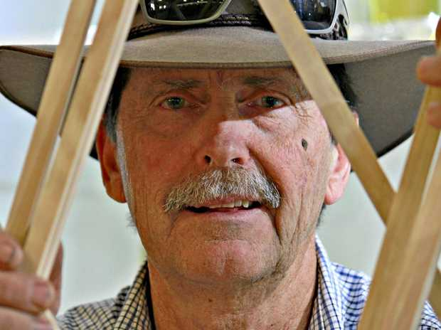 SWEET PASTIME: Ekka regular Neil Masters grows honey and makes bee hive products.