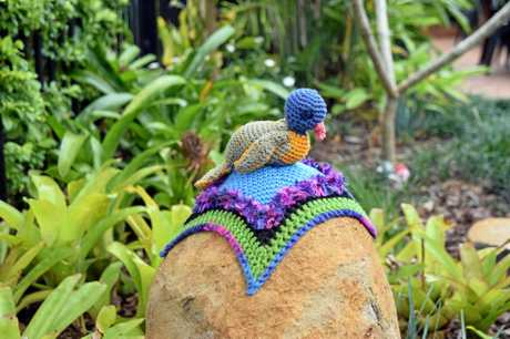 Kyogle's Yarn Bombing Extravaganza saw knitted installations around the main street.