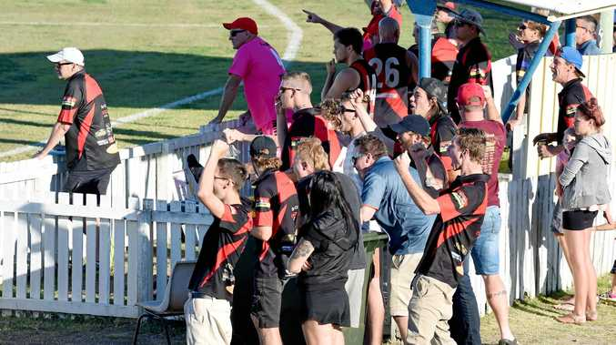 CELEBRATION: Hervey Bay Bombers fans had 104 reasons to celebrate on Saturday, as their club beat Bay Power in its most important game of the season to date.
