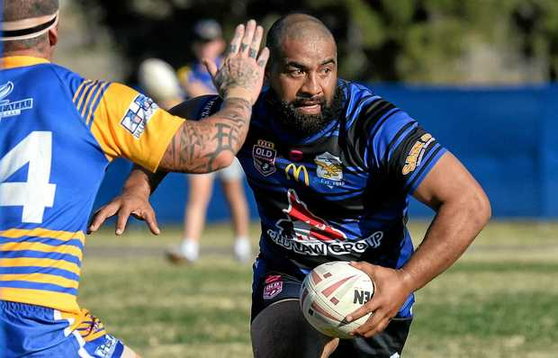 DANGER MAN: Goodna veteran Alby Talipeau set up three tries with kicks, including the match winner against Norths in the final minutes.