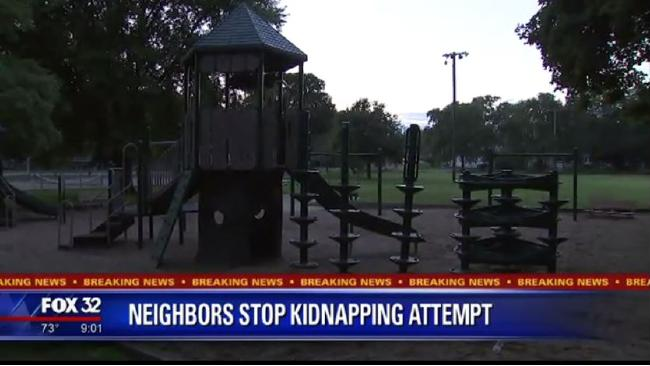 The playground in Woodstock, Illinois, where the attempted abduction occurred. Source:Supplied
