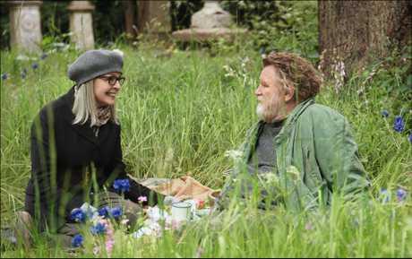 Diane Keaton and Brendan Gleeson in a scene from Hampstead.