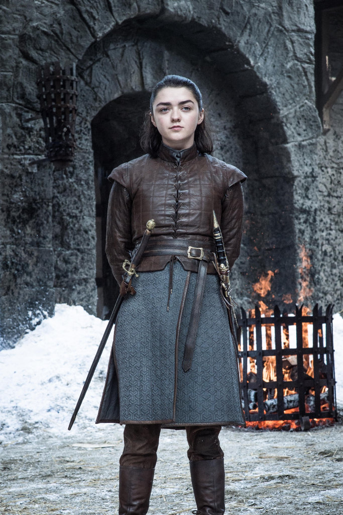 Maisie Williams as Arya Stark in a scene from season 7 of Game of Thrones.