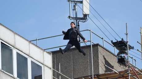 Tom Cruise filming Mission Impossible 6 in London.