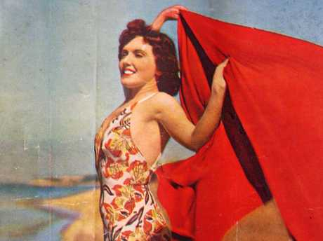 Cover girl Lily May (nee Caldwell) Bowley in about 1939, modelling on Suttons Beach.