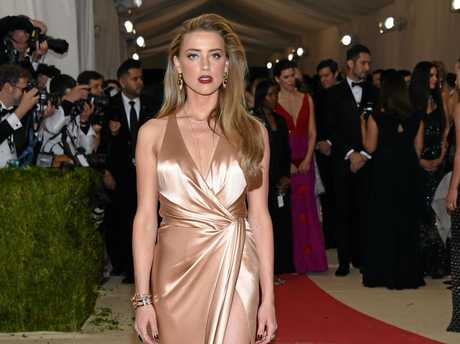 Amber Heard arrives at The Metropolitan Museum of Art Costume Institute Benefit Gala, celebrating the opening of