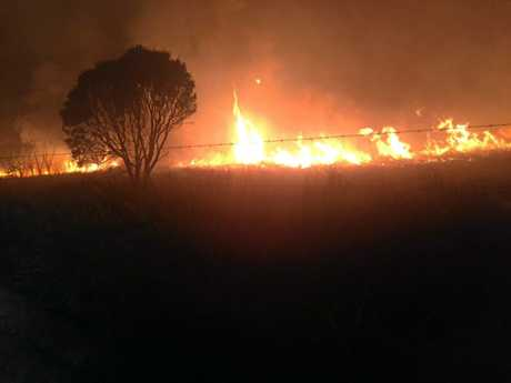 Rural firefighters have been battling a blaze in Eton for days.