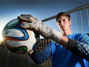 The teen who saves goals and takes scalps in two sports