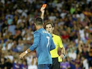 Ronaldo's red card overshadows Real victory