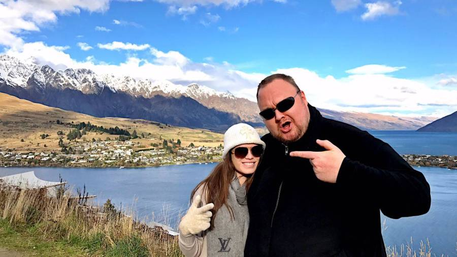 Kim Dotcom and his partner Elizabeth Donnelly have apparently been in Queenstown scoping out houses. Photo / Kim Dotcom