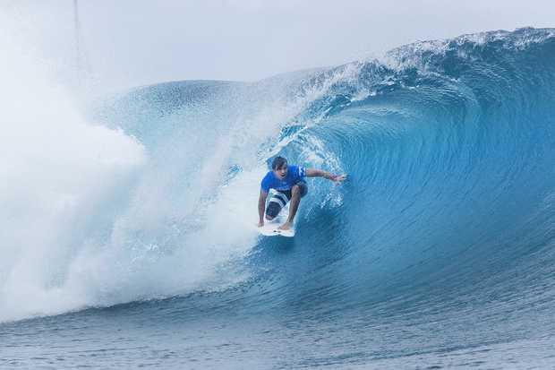 CHAMP: Julian Wilson won the Billabong Pro Tahiti to move to fifth in the world rankings.