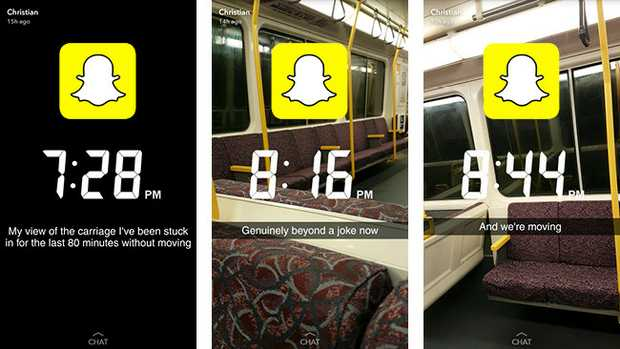SnapChat posts capture the wait on the Ferny Grove line on Friday.