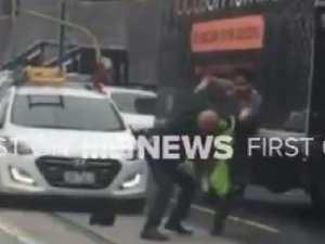 Shocking footage: Road rage brawl