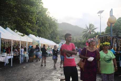 A night market at Punanga Nui Cultural Market near Avarua.