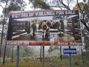 Vegan sign condemning animal slaughter vandalised