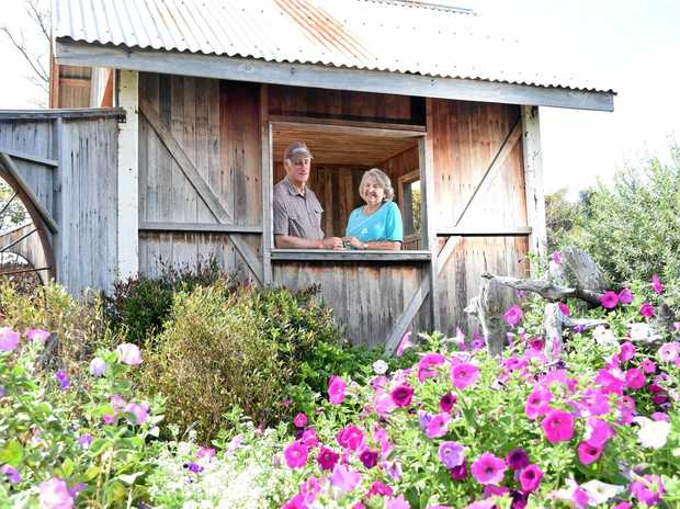 BLOOMIN' GOOD: Wayne and Val Lawson in their Grand Champion garden of the 2016 Lockyer Valley Garden Competition.