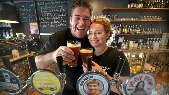 Matt and Sharynne Wilson fromthe  Moffat Beach Brewing Co. have won awards for their craft beer.