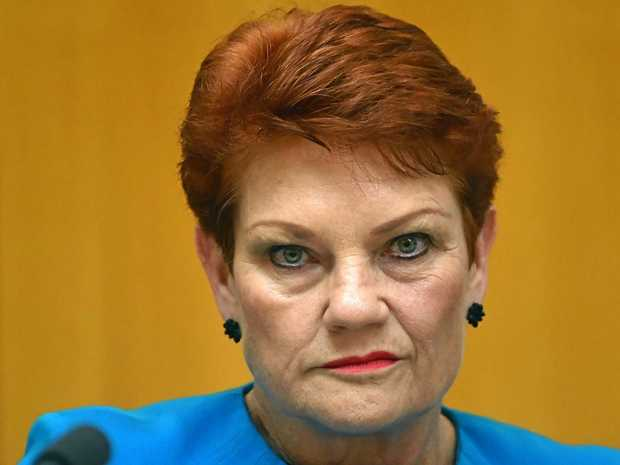 One Nation leader Senator Pauline Hanson at Senate estimates at Parliament House in Canberra, Tuesday, May 30, 2017. (AAP Image/Mick Tsikas) NO ARCHIVING