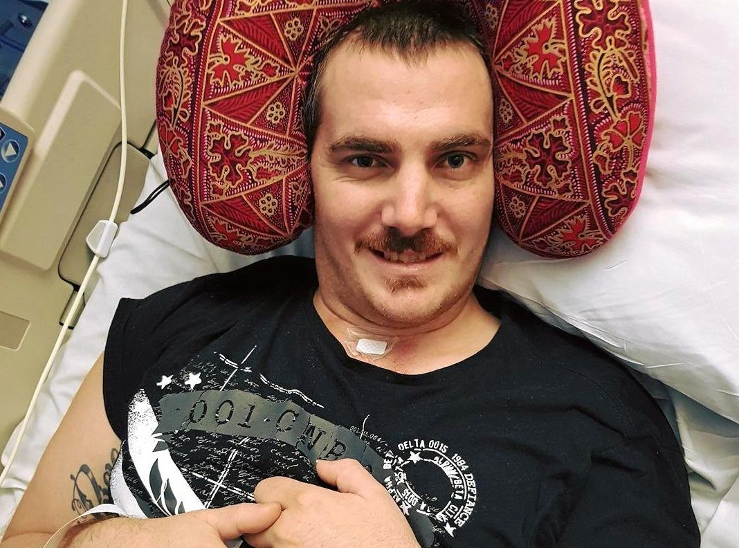 Luke Buckton has been recovering after crashing his motorcycle 11 weeks ago.