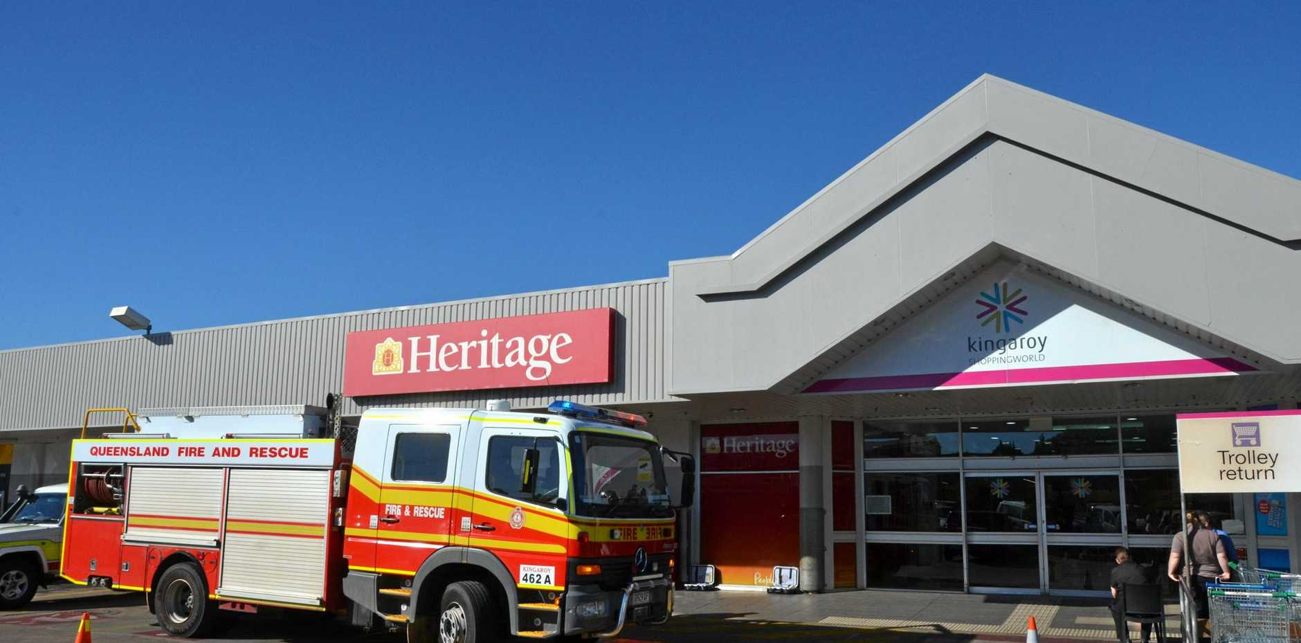 Fire crews are on the scene at the Kingaroy Shoppingworld.
