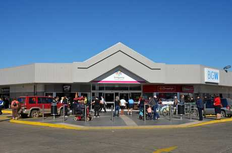 Crowds evacuated Kingaroy Shoppingworld on Tuesday morning following a suspected gas leak.