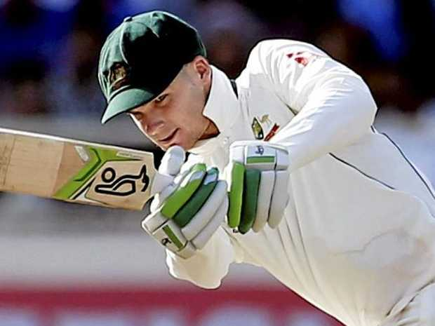 Australia's Peter Handscomb plays a shot during the tour of India in March.