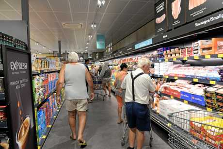 NEW LOOK: The new store format is already in place at Aldi Bargara.