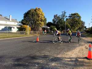 HOT WHEELS: The Ballina Masters Cycling Club geld their first Team Race event on the new course on Saturday. Riders averaged more than 334kmh.