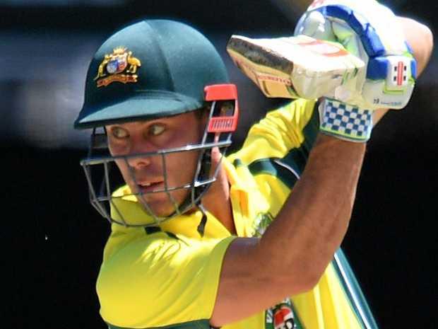 Australian batsman Chris Lynn during a ODI against Pakistan at the Gabba in January.