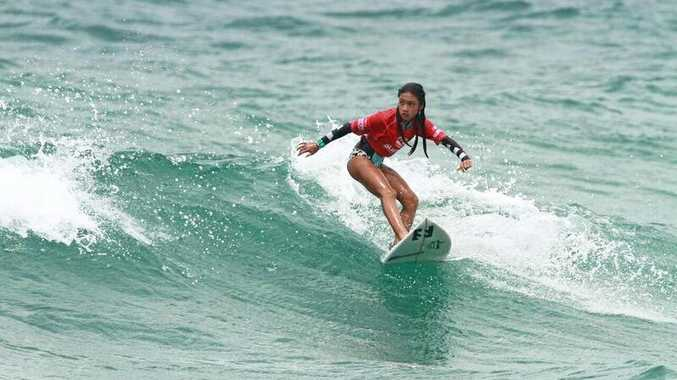 MAKING WAVES: Lilliana Bowrey will be looking for her second state title at the Queensland Grommet Titles this weekend.