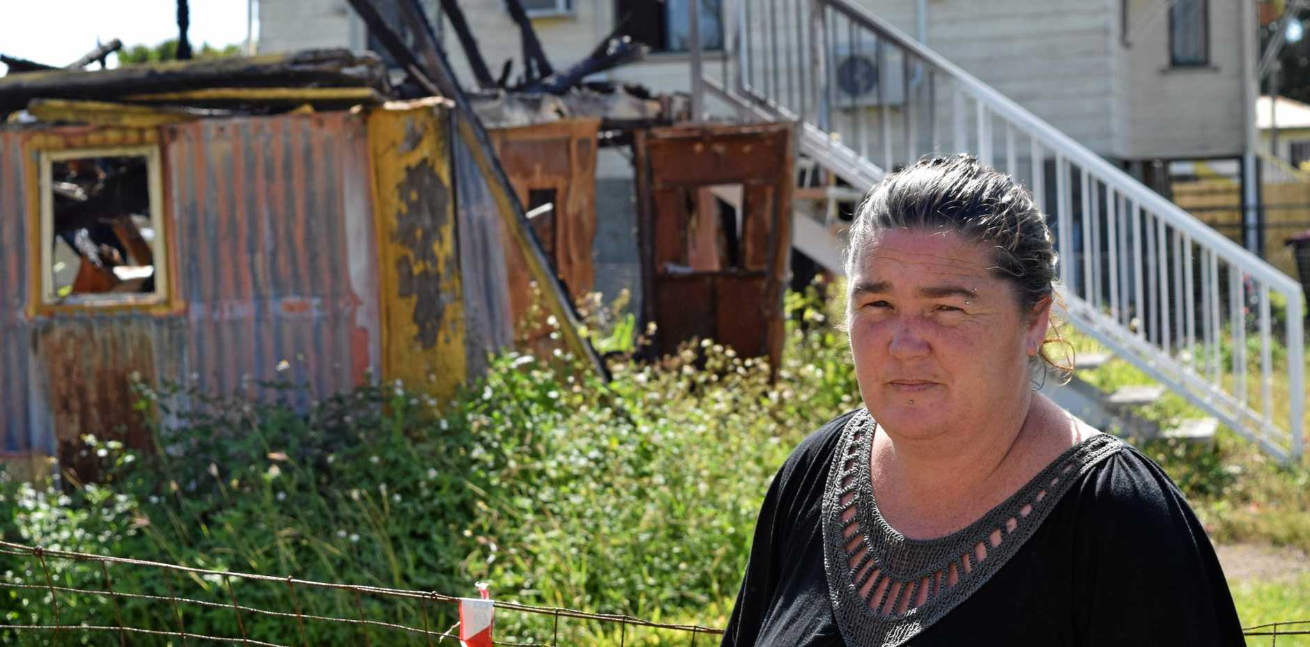 UNTOLD STORY: Lisa Pallister was set to move into 97 Broad St in Sarina before it went up in flames during Cyclone Debbie.