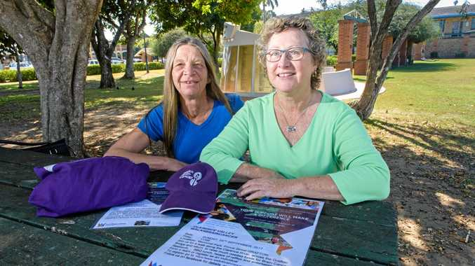 CANCER GRIEF: Wendy Black and Julie Revis have joined forces to put on Clarence Valley Walk For Brain Cancer at Memorial Park in honour of both their sons, who died from brain cancer.