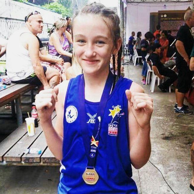 BIG WIN: Skylah Hamill won gold at the Muay Thai World Championships in Thailand.
