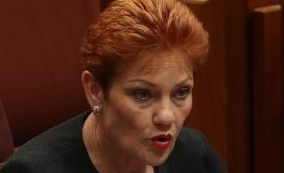 Senator Hanson announced she gave support to the changes in return for reforms to the ABC, greater community radio funding and foreign ownership reporting. Picture: Kym Smith