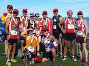 RUNNING HOT: Toowoomba Road Runners at July's Jetty 2 Jetty – one of the events club members travel together to enjoy.