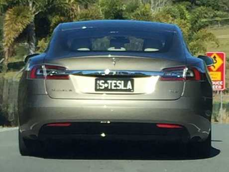 Liz Cantor gave the driver of the grey Tesla a serve for running over a snake. Picture: Facebook
