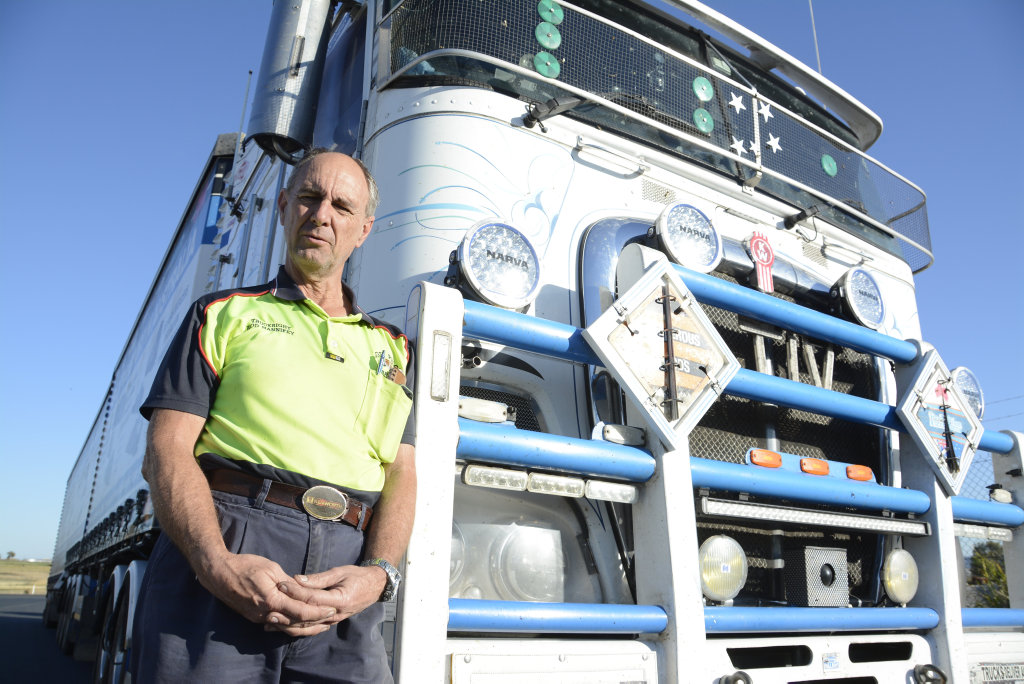 NOT ENOUGH: Truckie advocate and driver Rod Hannifey says the planned stopping bays for heavy vehicles on the Toowoomba Second Range Crossing are not enough, and will not help reduce driver fatigue.