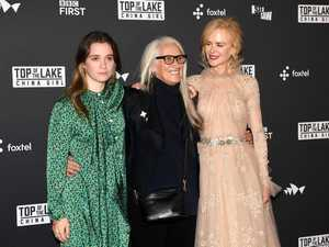 Alice Englert, Jane Campion and Nicole Kidman pose for a photograph at the Top of the Lake: China Girl Australian premiere in Sydney.