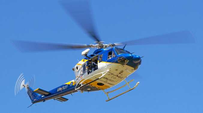 RESCUED: The man was flown to the Bundaberg hospital.