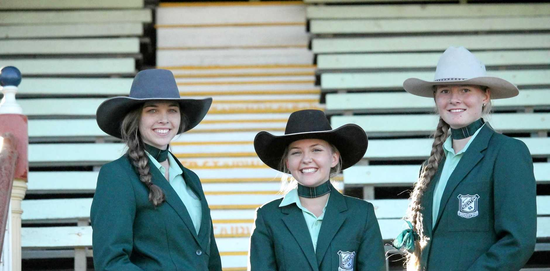 OUR WINNERS: Nanci Wilson, Madison Low and Megan Birch, three of among many Montonians who excelled at the Ekka cattle events.