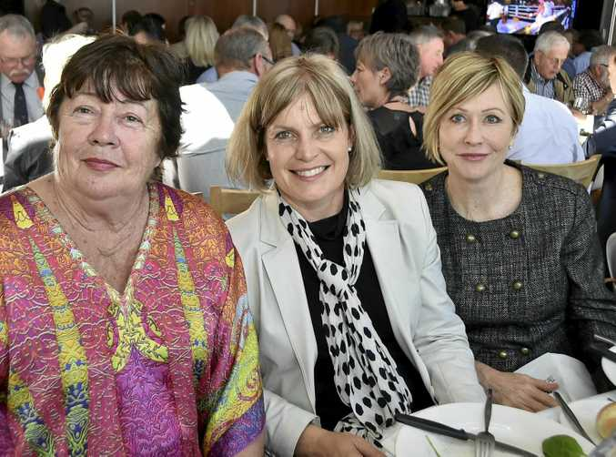 Enjoying the lunch are (from left) Jenny Black, Toni Somes and Leonie Walsh.