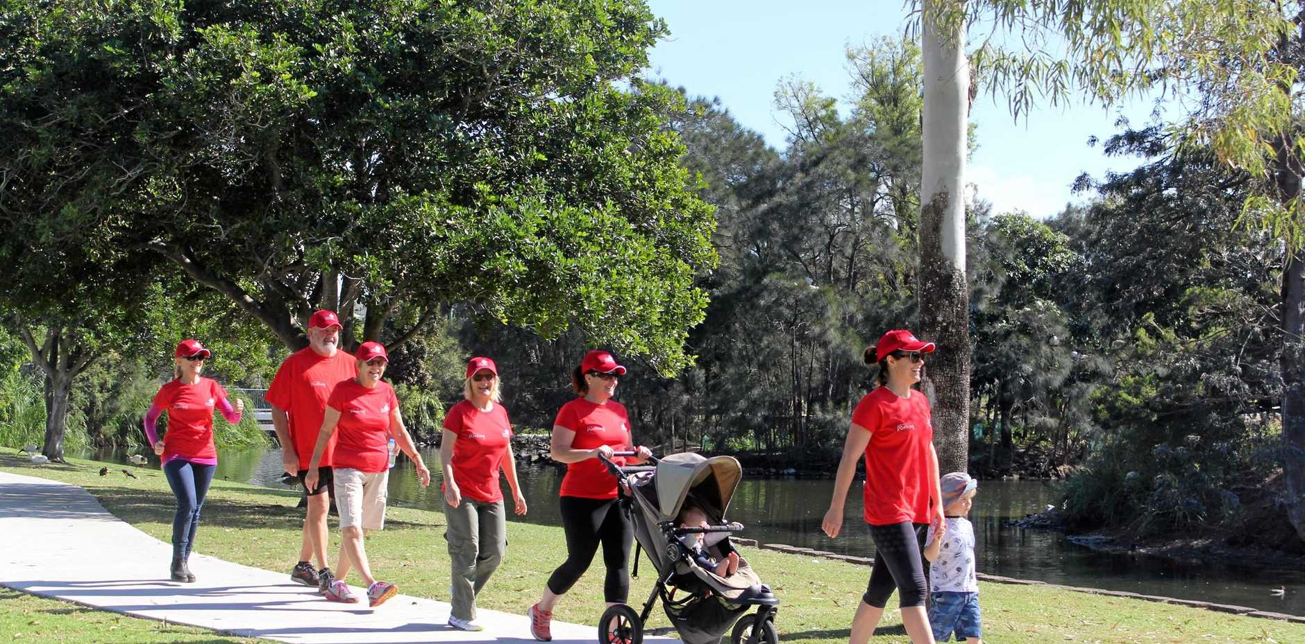 UP AND ACTIVE: Intergenerational walkers at last year's Duckpond Dash which is happening again on Saturday as part of the 2017 Senior Week celebrations.
