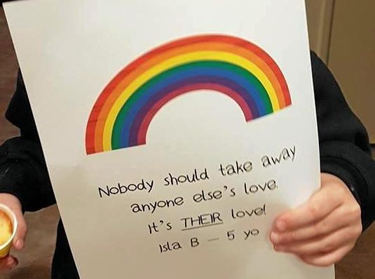 Five-year-old Isla shares her simple message about same-sex marriage.