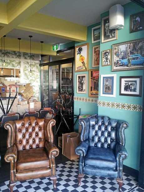 Coco Cubano has an old school interior.