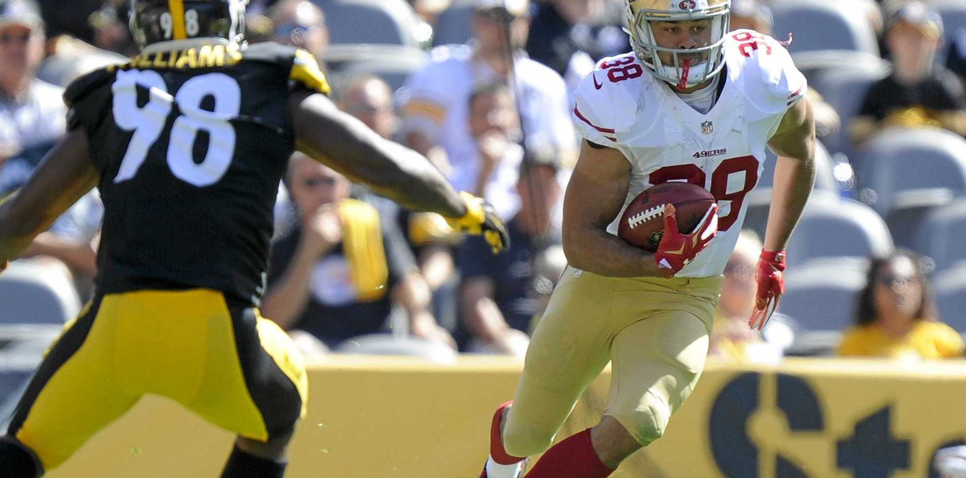 Happier times .... Jarryd Hayne in action for the San Francisco 49ers