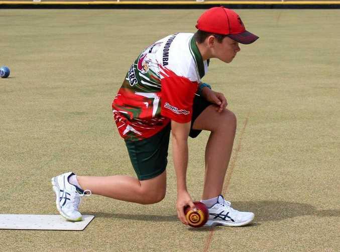 ON THE MAT: Thirteen-year-old Toowoomba lawn bowls champion Jake Rynne