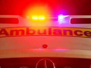 Man backhands over-dosing woman in face, rear-ends ambos