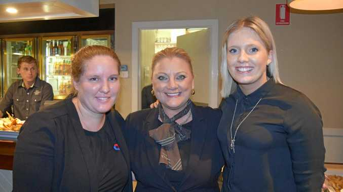MARKET UPDATE: Allyce James, Kerri McIntyre and Victoria Gracie at the Shamrock Hotel for the Explore Property Local Economy Information Night.
