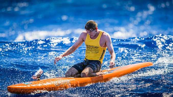TOUGH: Lachlan Lansdown is a force on the world paddleboard scene.