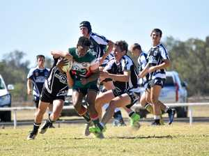 TAKEN DOWN: Chinchilla Bulldogs beat the Mitchell Magpies in the under-18s semi-final match at the weekend.